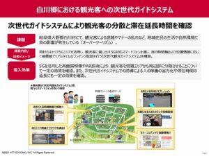 白川郷における観光客への次世代ガイドシステム